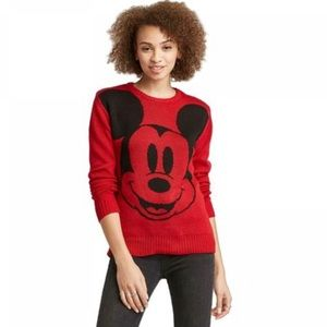 Disney Mickey Face Graphic Sweater